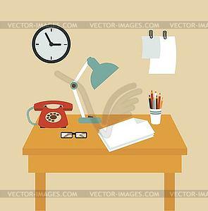 Sekretär - Vektorgrafik-Design