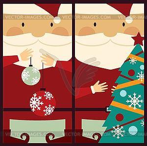 Santa Claus mit Weihnachtsbaum - Vector-Design
