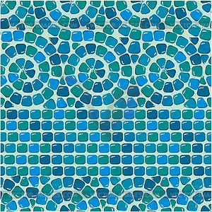 nahtlose mosaik muster blau fliesen vector clipart vektor bild. Black Bedroom Furniture Sets. Home Design Ideas