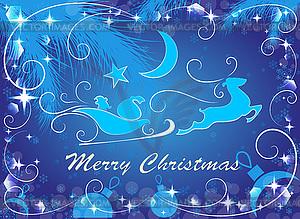 Blauer Weihnachtshintergrund, - Vektor-Design