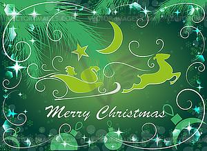 Grüne Weihnachten Hintergrund, - Vector-Bild