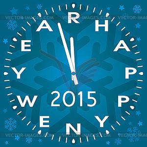 Dekoration von Happy New Year Symbol der Uhr oder - Vektor-Clipart / Vektor-Bild