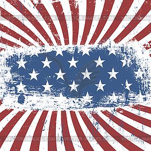 US-amerikanische patriotische Vintage Hintergrund. , EPS10 - Vektorgrafik-Design