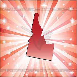 Red Idaho - farbige Vektorgrafik