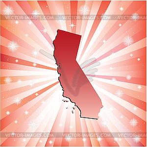 Red Kalifornien - vektorisierte Grafik