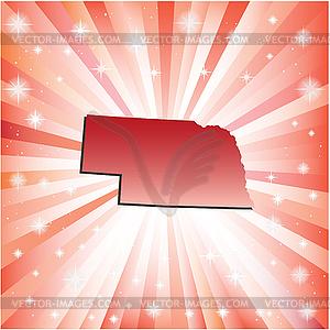 Red Nebraska - Stock Vektor-Bild