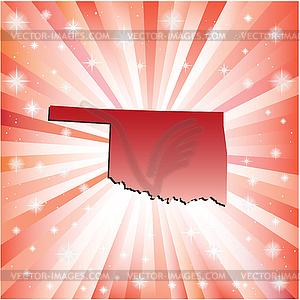 Red Oklahoma - Vector-Clipart / Vektor-Bild