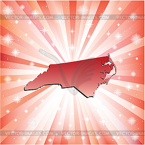 Red North Carolina - vektorisiertes Bild