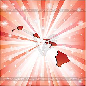 Red Hawaii - Vector Clip Art