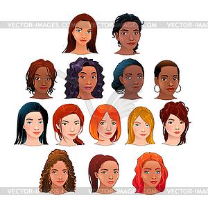 Avatare - farbige Vektorgrafik
