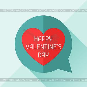 Alles Gute zum Valentinstag in flachen Stil - Vektor-Illustration