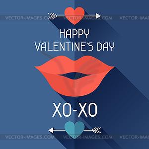 Alles Gute zum Valentinstag in flachen Stil - Vector-Design