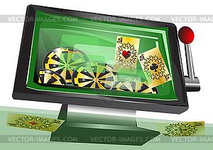 Online-Glücksspiel - Vektorgrafik