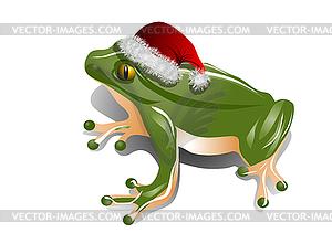 Weihnachtsfrosch - Vektorgrafik-Design