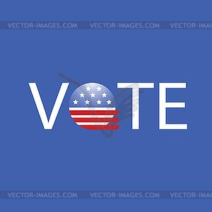 USA Election Sie Ihre Meinung - Stock Vektor-Bild