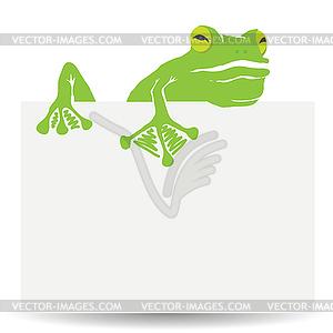 Grüner Frosch - farbige Vektorgrafik