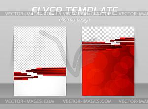 Abstrakt Flyer Template-Design - Vektor-Bild