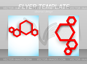 Abstrakt Flyer Template-Design - Vektor-Clipart EPS