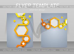 Abstrakt Flyer Template-Design - Vector Clip Art