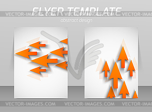 Abstrakt Flyer Template-Design - Vector-Clipart / Vektor-Bild