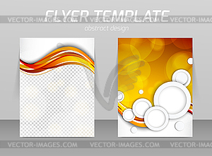 Abstrakt Flyer Template-Design - Stock-Clipart