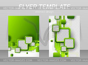 Abstrakt Flyer Template-Design - Vektor-Abbildung