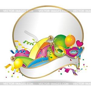 Faschingshintergrund - Vektor-Clipart / Vektorgrafik