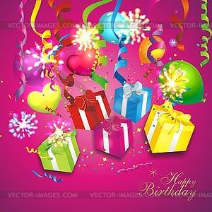 Bunter Geburtstagshintergrund - Stock Vektor-Bild
