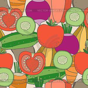 Nahtlose Muster von Gemüse - Vektor-Clipart / Vektorgrafik