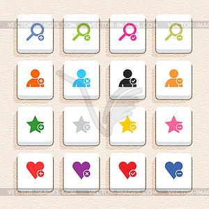 16 Außerdem unterzeichnen Icon-set 07 (Farbe auf weiß) - Vektorgrafik-Design