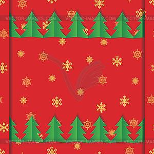Weihnachtskarte mit Schneeflocke Ornamente - farbige Vektorgrafik
