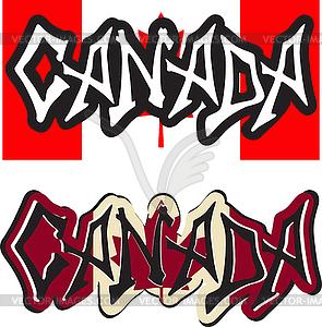 Kanada Wort Graffiti anderen Stil - Vektorgrafik