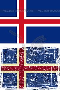 Icelandic Grunge-Flag - Vector-Clipart / Vektor-Bild
