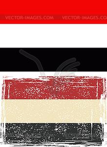 Jemen-Grunge-Kennzeichen - Vektor-Clipart EPS