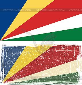 Seychellen-Grunge-Kennzeichen. - Vektor-Clipart EPS