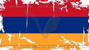 Armenian Grunge-Flag - Vektor-Clipart EPS