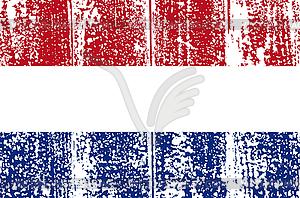 Niederländische Schmutzflagge - Vector-Clipart