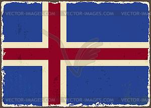 Icelandic Grunge-Flag - Vector-Clipart EPS