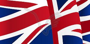 Hintergrund mit winkenden Großbritannien Flagge - Vektorgrafik