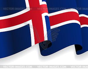 Hintergrund mit winkte Isländische Flagge - Vektorgrafik-Design