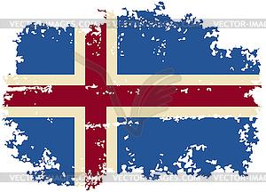 Icelandic Grunge-Flag. - Vector-Clipart / Vektor-Bild