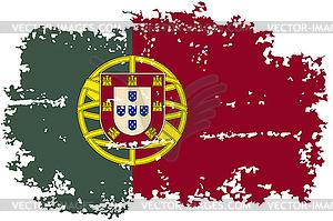 Portugal Grunge-Flag. - vektorisierte Grafik