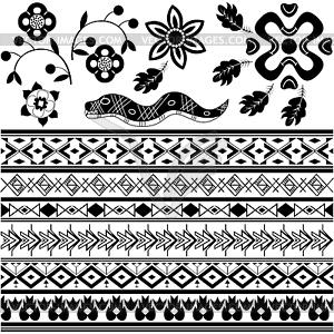 Set von alten amerikanischen Ornamente - Vector-Clipart / Vektor-Bild