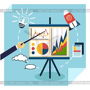 Präsentation von Geschäftsentwicklungskonzept - Vector-Clipart / Vektor-Bild