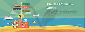 Icons Set von Reisen und Urlaub Planung - Vektor-Clipart / Vektorgrafik