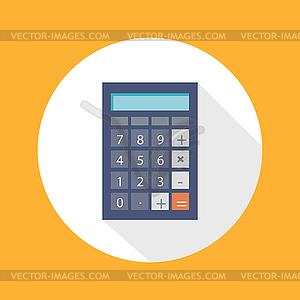 Rechner Flach Konzept Icon - vektorisiertes Design