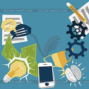 Existenzgründung Konzept - Stock Vektor-Clipart