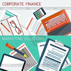 Konzept für Corporate Finance, Marketing-Lösung - Vector-Clipart EPS