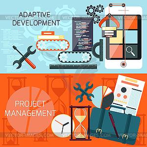 Adaptive Entwicklung und Projektmanagement - Stock-Clipart