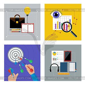Konzept Set für Unternehmen - Vektor-Clipart / Vektorgrafik